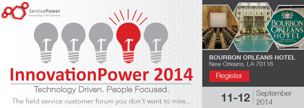 InnovationPower is around the Corner! Are you joining us?   ServicePower   Innovating Field Service