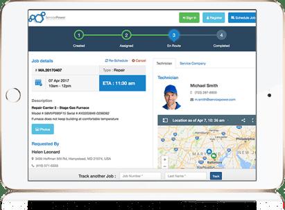 ServicePower Field Service Management Consumer portal