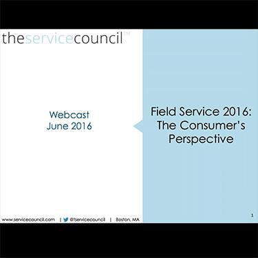 ServicePower Webinar Series: TSC on Field Service Performance- The Customer Perception