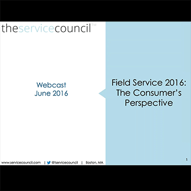 ServicePower Webinar Series: TSC on Field Service Performance- The Customer Perception