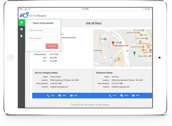ServicePower-customer-portal- tech-communications