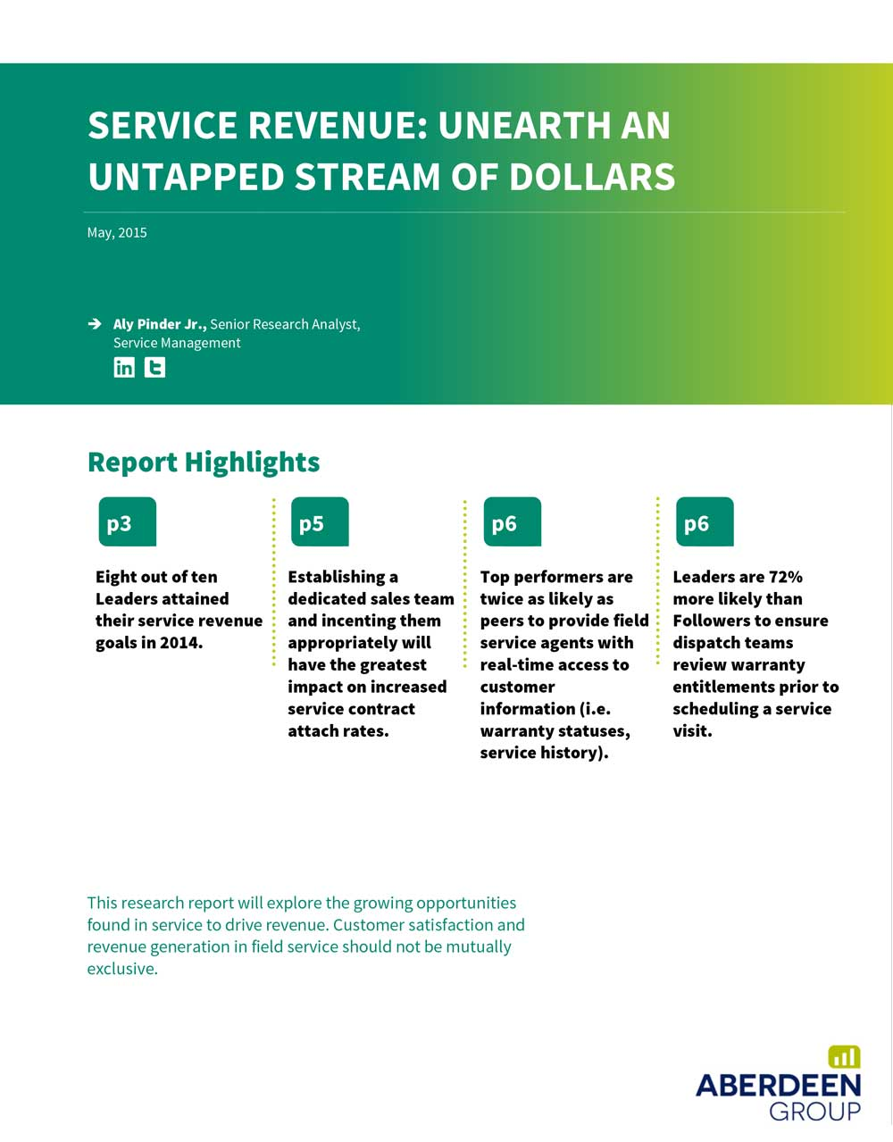Service Revenue: Unearth an Untapped Stream of Dollars