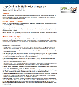 Gartner 2017 Magic Quadrant for Field Service Management