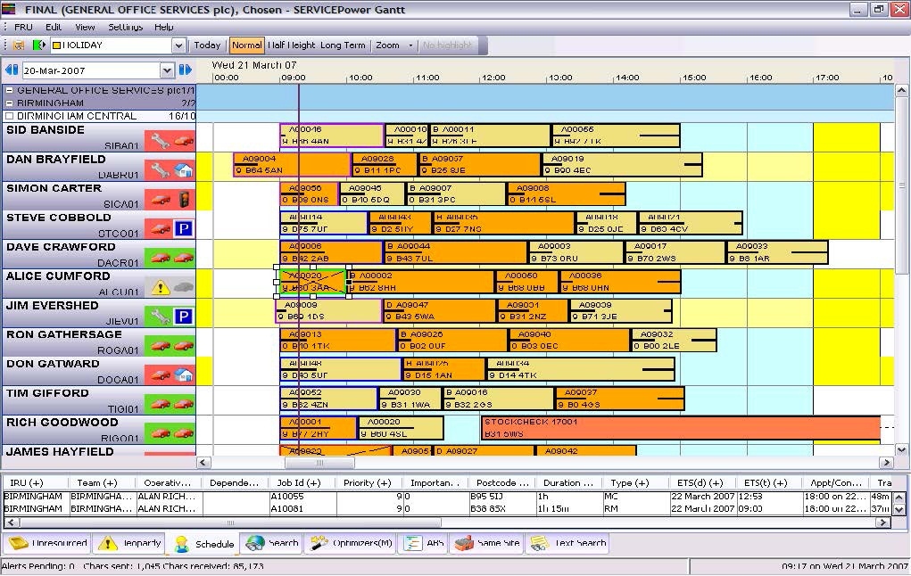 workforce management software gantt