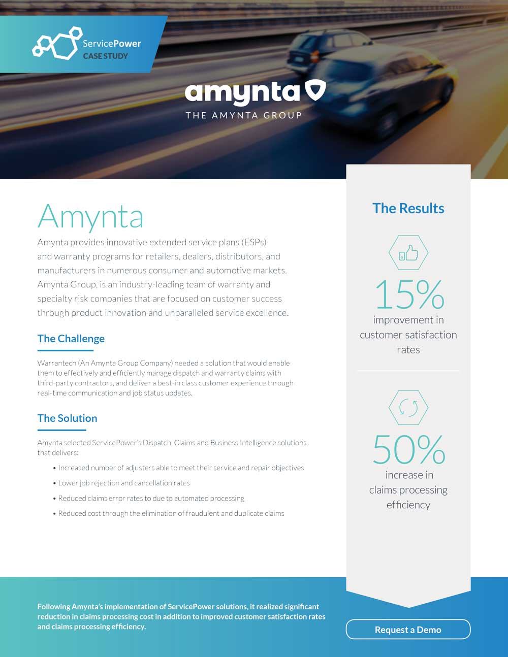 Amynta Improves Customer Satisfaction By 15%