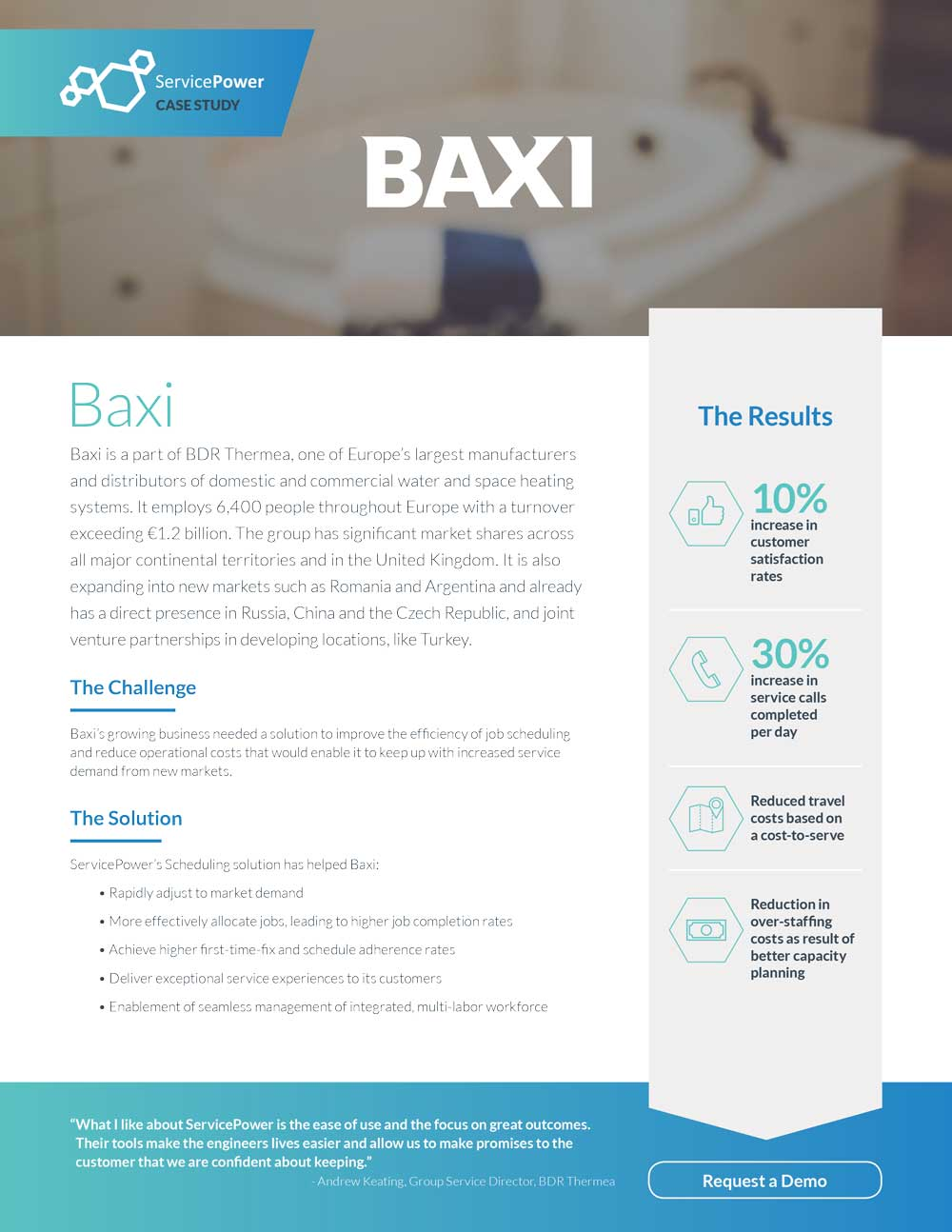 Baxi Increases Customer Satisfaction and Efficiency