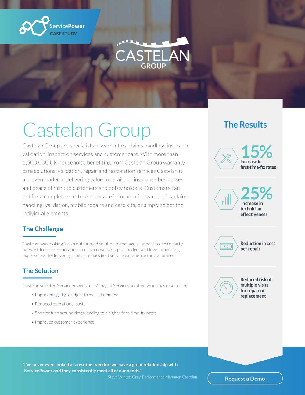Castelan Group Outsourced Third-Party Management to ServicePower