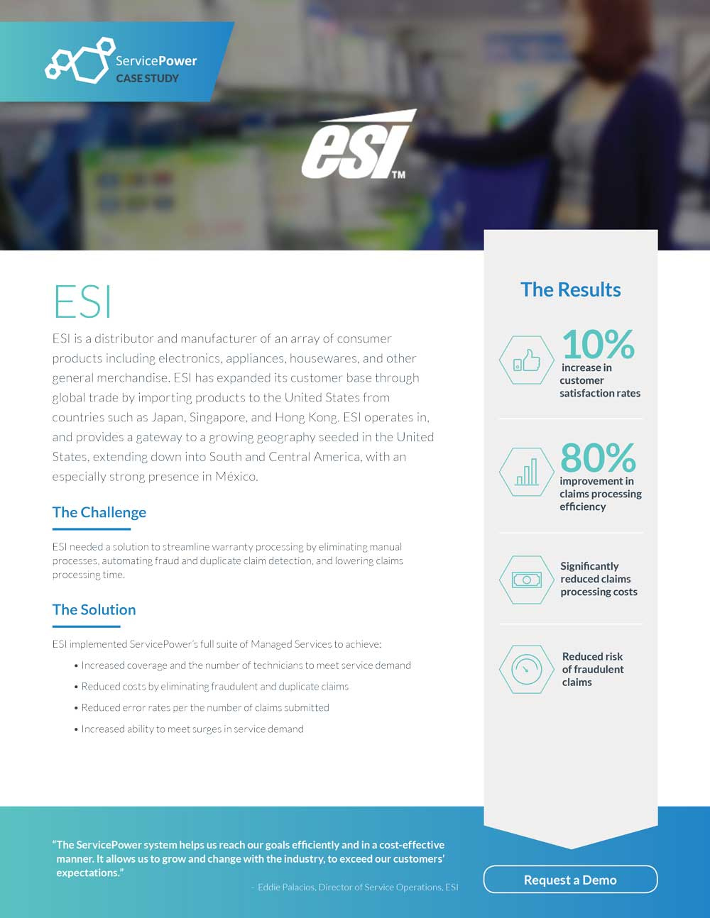 ESI Implemented ServicePower's Full Suite of Managed Services