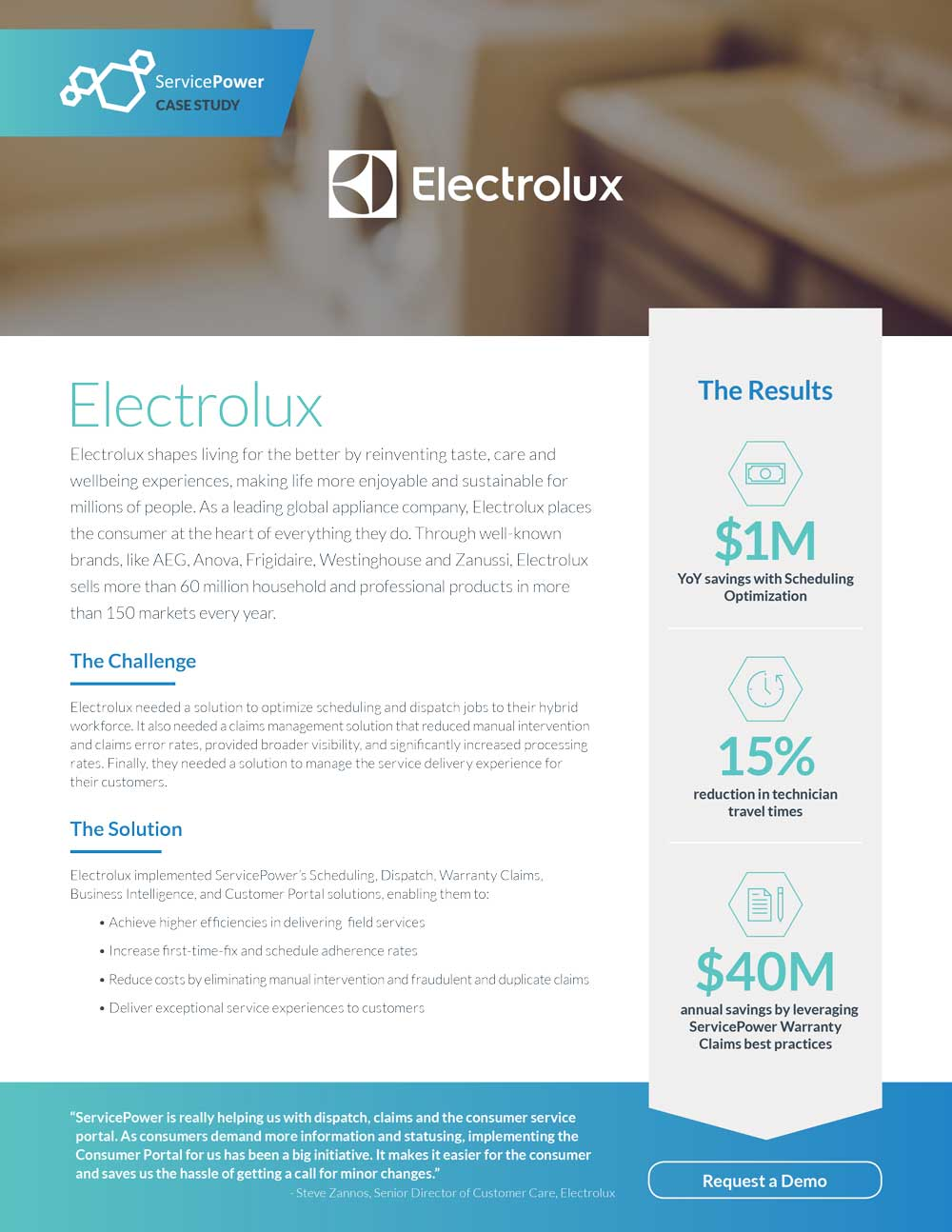 Electrolux Saves Time and Millions