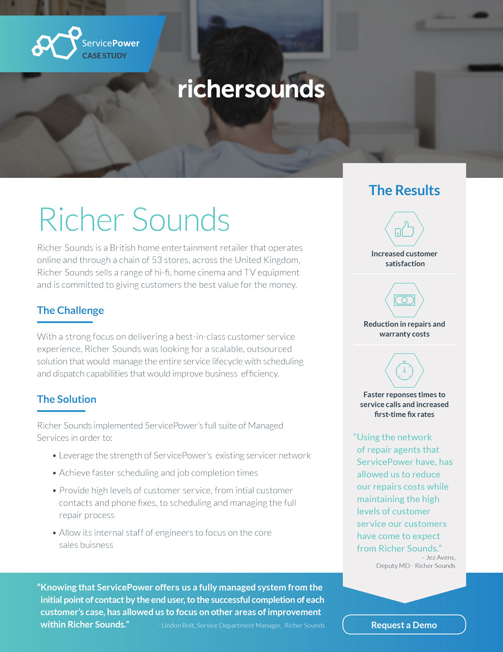 Richer Sounds Reduces Repair Costs