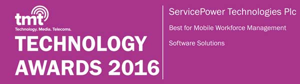 ServicePower named by TMT News as a 2016 Technology Awards Winner | ServicePower | Innovating Field Service