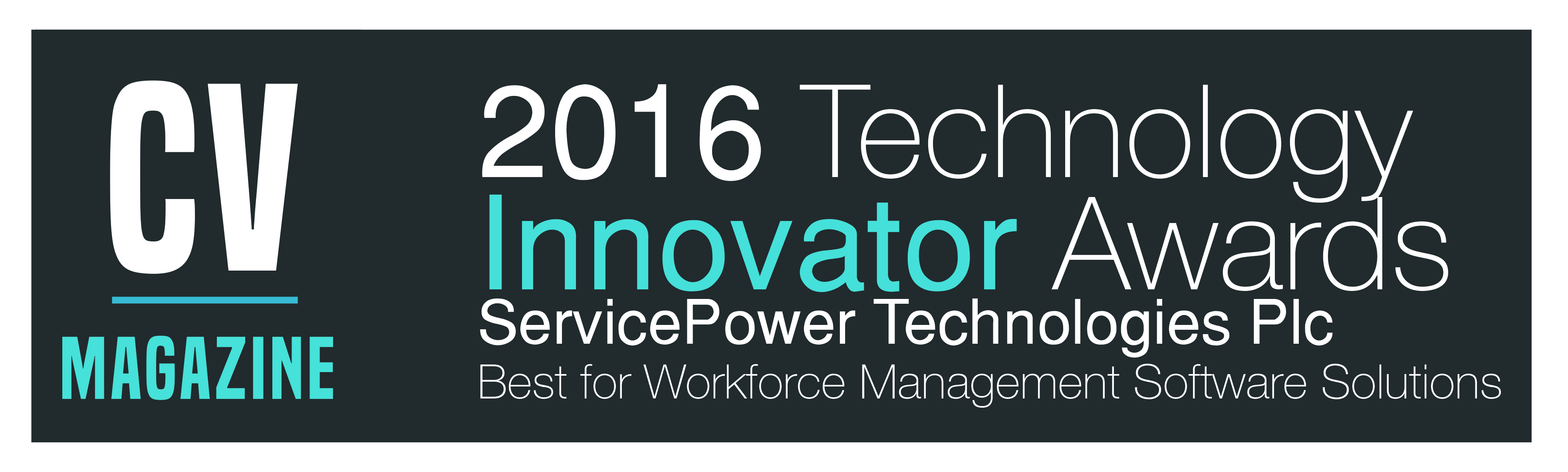 Corporate Vision 2016 Technology Innovator Awards Winner | ServicePower | Innovating Field Service