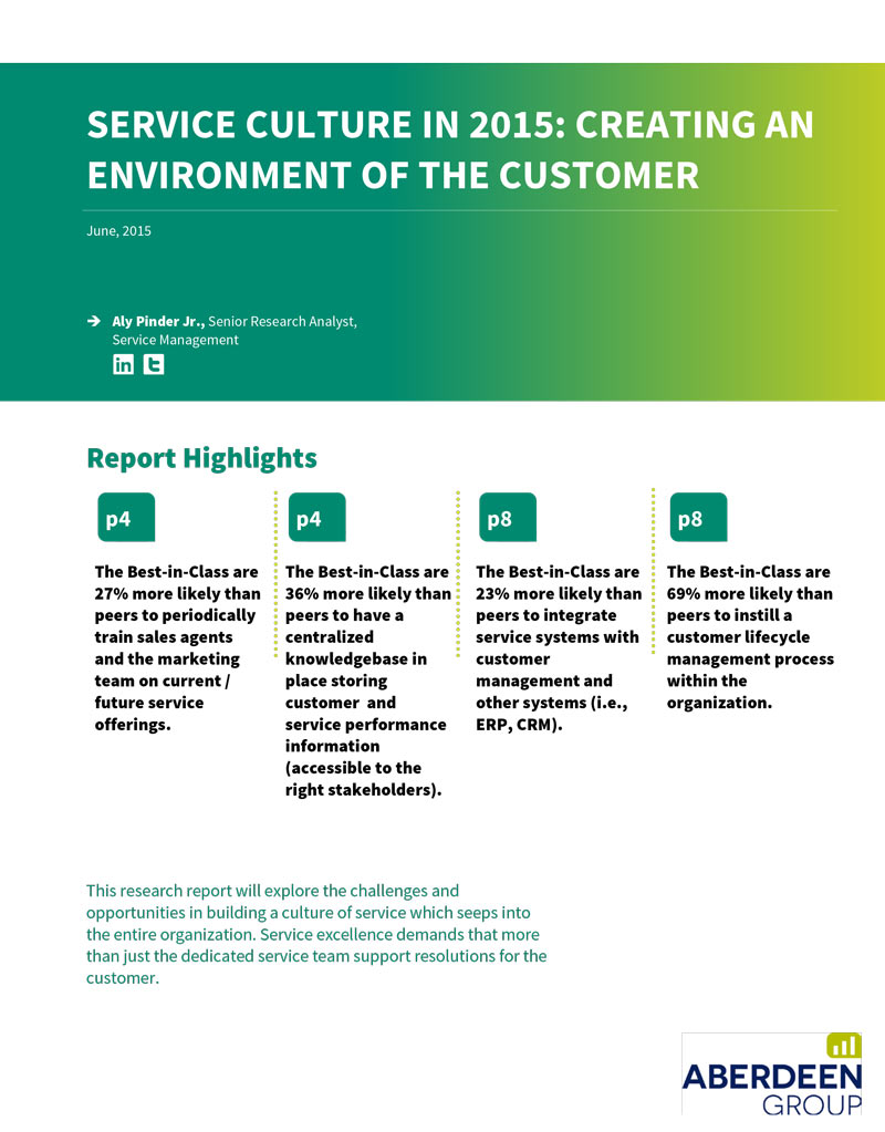 Service Culture in 2015: Creating an Environment of the Customer