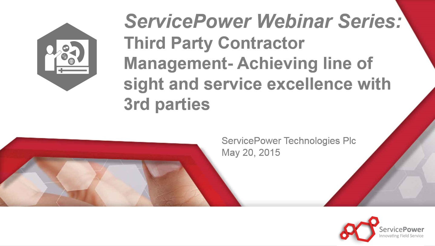 Request a Copy of Our Webinar: Third Party Contractor Management, featuring AIG Warranty